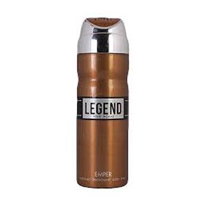 اسپری بدن مردانه امپر مدل لجند قهوه ای حجم 200 میل  Emper deodorant Body Spray Legend Brown for Men 200 ml