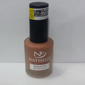 لاک مات ناتالی کد 05 رنگ قهوه ای روشن Nathelie Matte Nail Polish