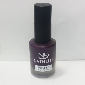 لاک مات ناتالی کد 10 رنگ بادمجانی Nathelie Matte Nail Polish