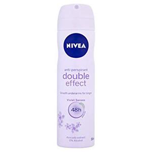 اسپری بدن  ضد عرق نیوا زنانه 48 ساعته دبل افکت حجم 150 میل  Nivea Body Spray Deodorant Double Effect 48 hours women 150 ml