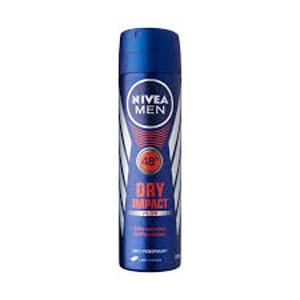 اسپری بدن  ضد عرق نیوا مردانه 48 ساعته درای ایمپکت حجم 150 میل  Nivea Body Spray Deodorant Dry Impact 48 hours men 150 ml