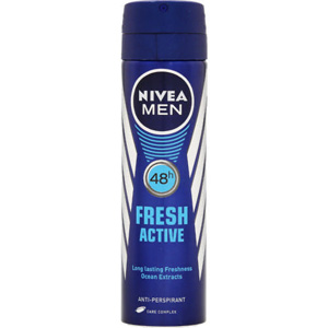 اسپری بدن  ضد عرق نیوا مردانه 48 ساعته فرش اکتیو حجم 150 میل  Nivea Body Spray Deodorant Fresh Active 48 hours men 150 ml