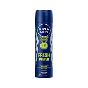 اسپری بدن  ضد عرق نیوا مردانه 48 ساعته فرش پاور حجم 150 میل  Nivea Body Spray Deodorant Fresh Power 48 hours men 150 ml