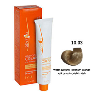 رنگ موی ریتون حداقل آمونیاک شماره 10/03 بلوند پلاتینی طبیعی گرم 120 میل Reyton Hair Color Low Amonia No 10/03 Warm Natural Platinum Blonde 120 Ml