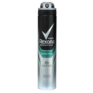 اسپری بدن  ضد عرق رکسونا مردانه 48 ساعته سنسیتیو حجم 200 میل  Rexona Body Spray Deodorant Sensitive 48 hours men 200 ml
